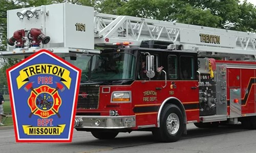 Trenton Fire Department responds to vehicle fire